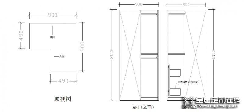 直型柜、顶柜、转角柜——衣柜产品结构知识分享_4