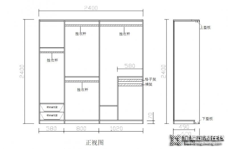 直型柜、顶柜、转角柜——衣柜产品结构知识分享_2