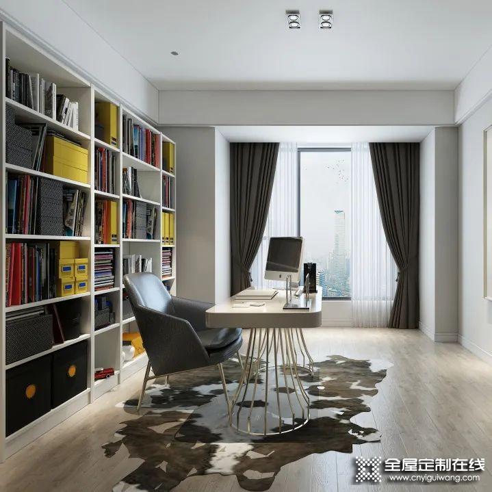书房就该这么设计!客来福全屋定制案例大分享!_10