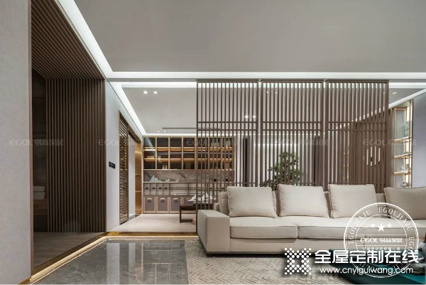 易高家居新中式系列新品效果图,客厅装修图
