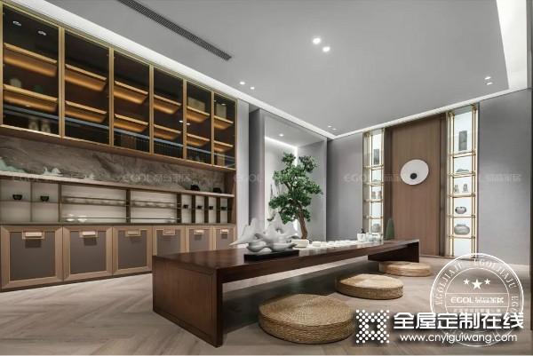 易高定制家居新中式系列茶室装修效果图