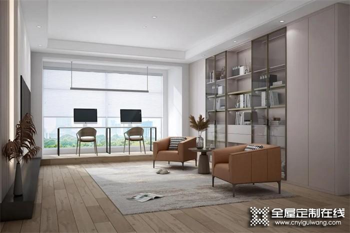 索菲亚全屋家居定制   客厅不要电视和电视柜,还可以怎么装?