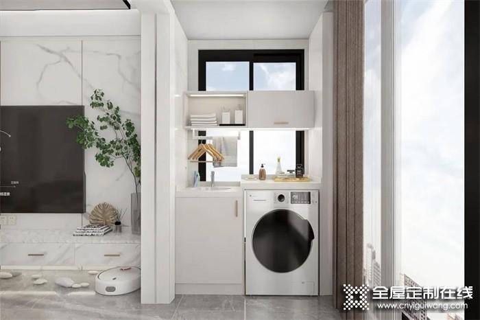 卫生间不要洗漱台,阳台封了照样晾衣服,我真要吹爆尚品宅配全屋定制这样的家!