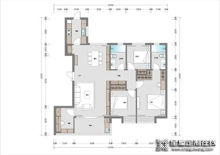 150m²轻奢美宅,全屋莫兰迪色系,志邦全屋定制打造精致生活!
