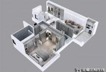 欧派家居玄关餐边柜一体化设计,家里多出了一间储物室,小户型可以照着这套方案装!