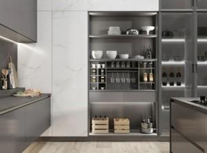 司米轻奢风深色厨房空间装修效果图