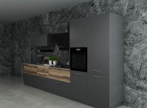 司米定制工业风深色厨房空间装修效果图