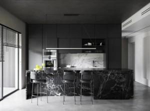 爱丽莎定制简约装修效果图,黑白灰三色打造高级舒适空间!